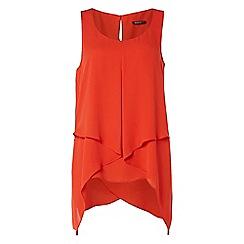 Roman Originals - Orange asymetric hem top