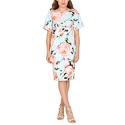 Jolie Moi - Aqua floral kimono dress