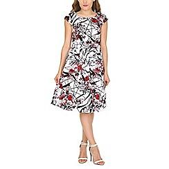 Stella Morgan - Red floral print  dress