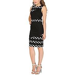 Stella Morgan - Black monochrome tailored midi dress