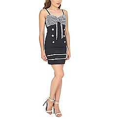 Stella Morgan - Navy nautrical style bodycon dress