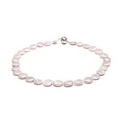 Kyoto Pearl - White freshwater coin pearls necklace