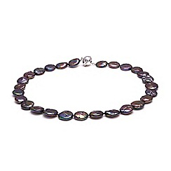 Kyoto Pearl - Black freshwater coin pearls necklace