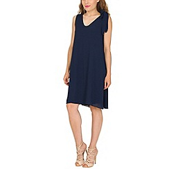 Pussycat London - Navy tie shoulder crepe tunic