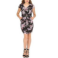 Pussycat London - Black buckle detail floral print dress