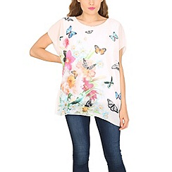 Pussycat London - White summer garden loose top