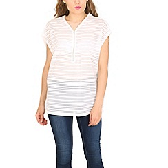 Pussycat London - Cream stripe jersey top