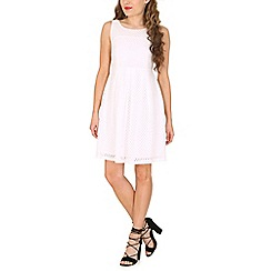 Amaya - White dobby skater dress