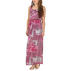 Amaya - Pink graphic print maxi dress