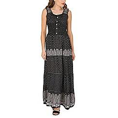 Amaya - Black print maxi dress