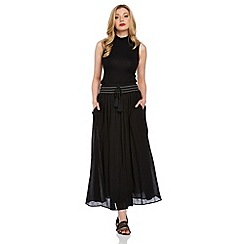 Roman Originals - Black boho maxi skirt