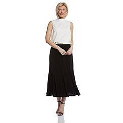 Roman Originals - Black panelled flute hem skirt