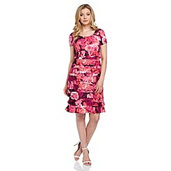 Roman Originals - Pink rose print frill dress