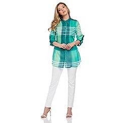 Roman Originals - Green pleat detail blouse