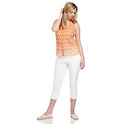 Roman Originals - Peach embroidered blouse