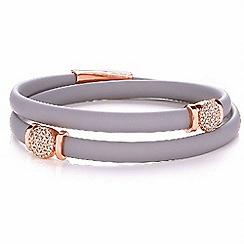 Bouton - Silver pave disc bracelets