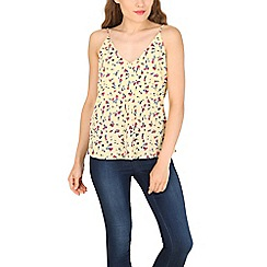 Tenki - Yellow flower print top