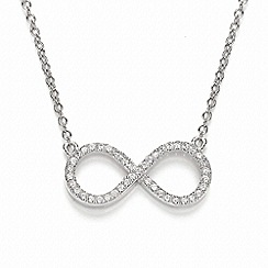 Bouton - Silver infinity necklace