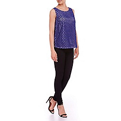 Sugarhill Boutique - Blue lacey top