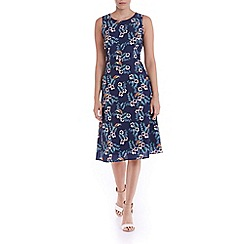 Sugarhill Boutique - Navy tropical bird midi dress