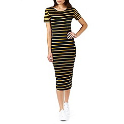 Poppy Lux - Navy rachel jersey stripe midi dress