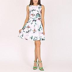 Voulez Vous - Green large flower print dress