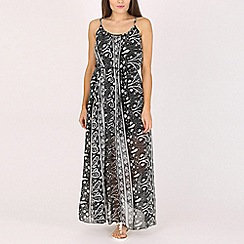 Voulez Vous - Black paisley print maxi dress