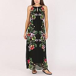 Voulez Vous - Black printed maxi dress