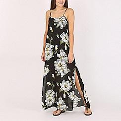 Voulez Vous - Black floral maxi dress