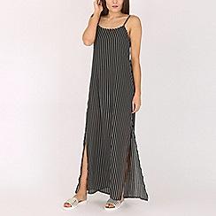 Voulez Vous - Black strippy maxi dress
