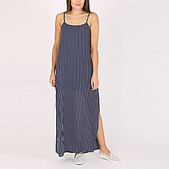 Voulez Vous - Navy strippy maxi dress