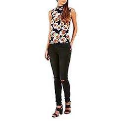 Poppy Lux - Multicoloured forward floral top