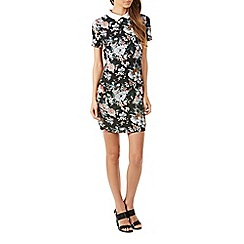 Poppy Lux - Black wilona floral tunic dress