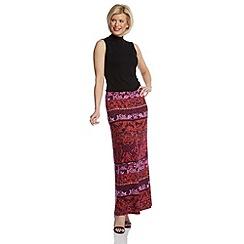 Roman Originals - Pink printed long skirt