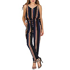 Mela - Multicoloured multi striped jumpsuit