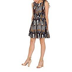 Mela - Multicoloured multi graphic printed dress