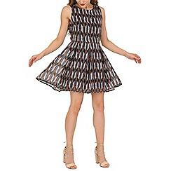Mela - Multicoloured multi arrow printed dress