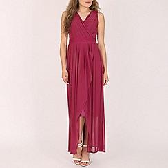 Solo - Purple maxi prom dress