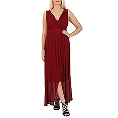 Solo - Wine maxi prom dress