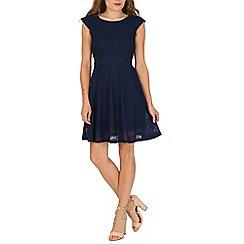 Mela - Navy textured dress