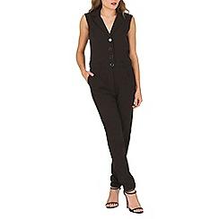 Mela - Black tuxedo style jumpsuit