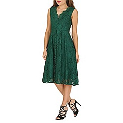 Jolie Moi - Green scalloped lace prom midi dress