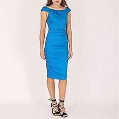 Jolie Moi - Royal 40s ruched wiggle dress