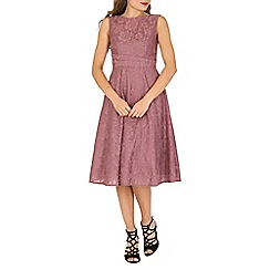 Jolie Moi - Mauve lace bonded fit & flare dress