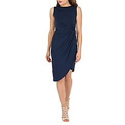 Mela - Navy ruched dress