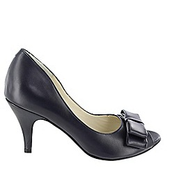 Marta Jonsson - Navy peep toe court shoe