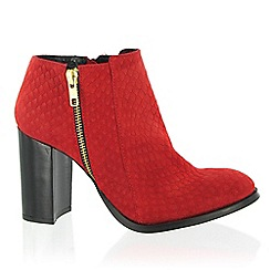Marta Jonsson - Red ankle boot
