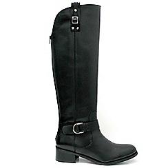 Marta Jonsson - Black leather knee high boot