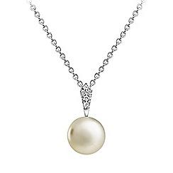 Jersey Pearl - White amberley drop pendant