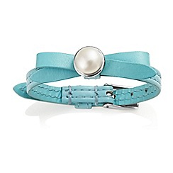 Jersey Pearl - Light blue joli fwp bracelet